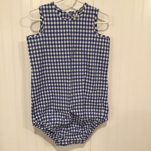 JCrew Baby Crewcuts Gingham one piece 18-24mos